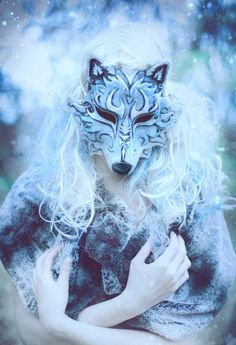 The truth is always more likely to come from behind a mask.  ~Unknown  Art: Winter Wolf by Girl Tripped