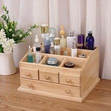 Wooden Makeup Organizer, Makeup Drawer Organization, Wooden Jewelry Boxes, Wooden Boxes, Small Wood Projects, Solid Wood Table, Cosmetic Storage, Wooden Art, Easy Home Decor