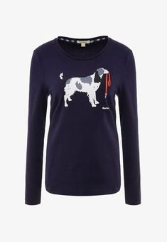 Barbour FRINTON TEE - Langarmshirt - navy - Zalando.at Barbour, School Outfits, Navy, Sweatshirts, Tees, Sweaters, Clothes, Fashion, Hale Navy