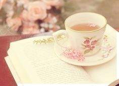 I don't often get the time and peace to enjoy a cup of tea at my own pace anymore, with a book or my knitting.
