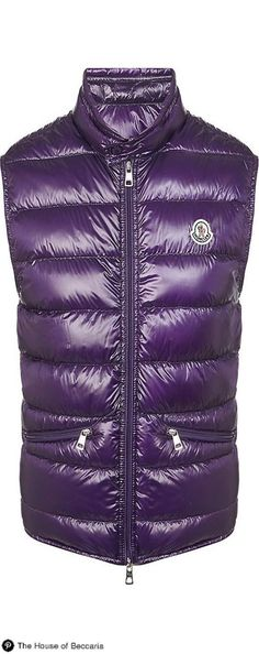 ~Moncler Gui Gilet Quilted Down Jacket in Purple   The House of Beccaria  Vest Coat 8276760dfcd