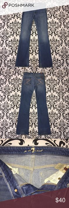 "7 for all Mankind FLYNT boot cut 27 Inseam 34"" 7 for all Mankind FLYNT boot cut jean size 27 Inseam 34"" Excellent condition. No rips, tears or stains. 📦📫 ships next day 📫📦 7 For All Mankind Jeans Boot Cut"