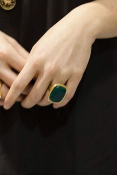 Emerald Cocktail Ring   Emerson Fry