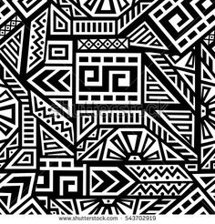 Unique Geometric Vector Seamless Pattern made in ethnic style. Perfect for site backgrounds, wrapping paper and fabric design. Ethnic Patterns, Textures Patterns, Print Patterns, African Tribal Tattoos, Abstract Face Art, Afrique Art, Aztec Wallpaper, Moroccan Art, Graphic Design Posters