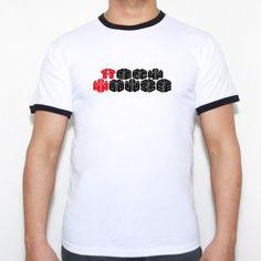 Tech house 3d Clean - Camiseta Fruit of the Loom Ringer T