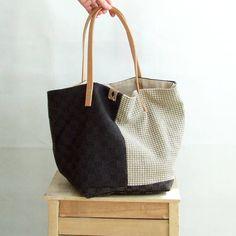 Handmade Tote Bag, Shopping Tote Bag, Weekender Bag, Large Market Bag, Beige Brown Bag, Tote Bag with Pockets, Everyday Bag by AJatelier on Etsy