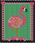 Flamingo Hearts Pattern by No Easy Beads AKA Beverly Herman at Bead-Patterns.com