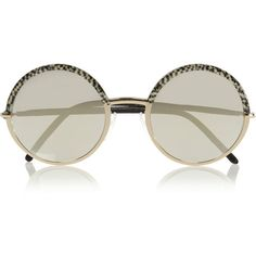 Round-frame acetate and metal mirrored sunglasses (€450) ❤ liked on Polyvore featuring accessories, eyewear, sunglasses, glasses, sunnies, mirrored sunglasses, round acetate sunglasses, mirror sunglasses, cutler and gross eyewear and mirror glasses