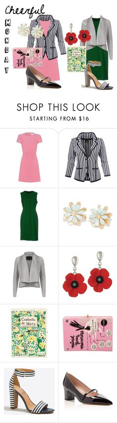 """""""Cheerful Monday Outfits"""" by dita-west-grand ❤ liked on Polyvore featuring RED Valentino, Cédric Charlier, Olympia Le-Tan, J.Crew and SJP"""