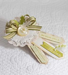 """Christmas Tag...but it has the look of keys and would be neat on a """"new home"""" gift."""