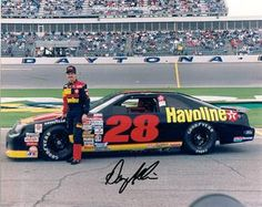 Davey Allison. One of my all-time favorites. Second gen NASCAR star. Larry Mac as crew chief redefined the job, and those Robert Yates Ford engines were magical, but it took Davey to put the whole package in Victory Lane. Also one of the coolest paint jobs ever.