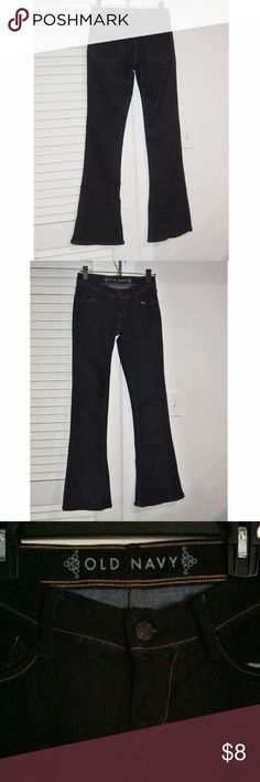 Dark Blue Black Bootcut Jeans Never been worn. New without tag. tried on and not fit. Dark blue, almost black, super stretchy. Size 2 Regular. Old Navy Jeans Boot Cut