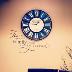 Time spent with family is worth every second  KW690 vinyl lettering sticker mural wall word decal home decor