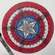 Captain America shield mandala