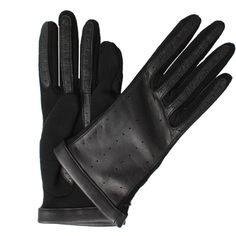 Lanvin Short Leather Jersey Glove ($450) ❤ liked on Polyvore featuring accessories, gloves, lanvin, short gloves, black gloves, boxing gloves and short white gloves