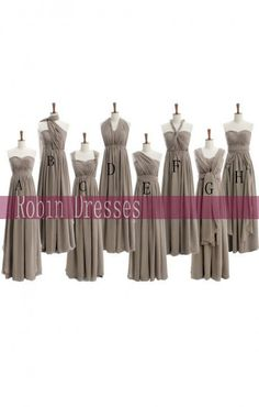 New Bridesmaid Dress Custommade Long Floor Length by RobinDresses, $89.00 i like these better