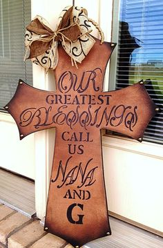 "DIY ""Our Greatest Blessings..."" Painted Cross"