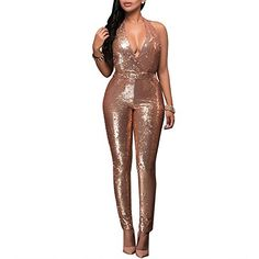 WSPLYSPJY Women Long Sleeve Bodycon Sequin Jumpsuit Print Long Bodysuit