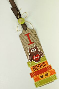 I Love Books Bookmark by Erin Lincoln for Papertrey Ink (December 2013)