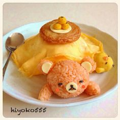 Rilakkuma bento OK this is not really a bento, but it´s so funny and sweet! :D
