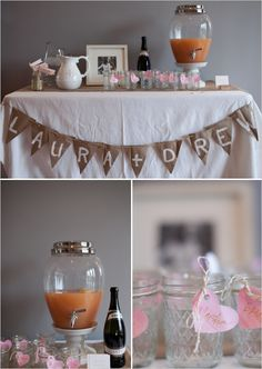 Bridal shower - drink station ideas