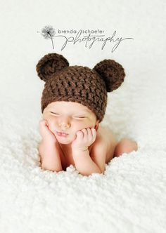 Newborn Baby Boy Hat Girl Bear Hat by Maddiesdivinedesigns on Etsy