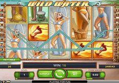 Игровой автомат Wild Water с выводом денег  Онлайн аппарат Wild Water исполнен в стиле 60-х, а его главными героями стали серфингисты. Составлять комбинации и осуществлять вывод денег из автомата вы будете при помощи 20 игровых линий. Также в этом помогут Wild, Scatter и фриспины.