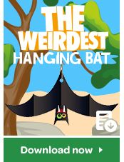 Who wouldn't want to hang out with a bat? Follow these instructions to create your own hanging bat! Hanging Bat, Animal Games, Entertaining, Create, Fun, Animals, Ideas, Animales, Animaux