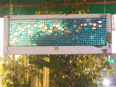Must try with flat glass beads/ marbles and small glass plates Mosaic Art, Mosaic Glass, Stained Glass, Glass Art, Window Art, Window Panes, Window Ideas, Flat Marbles, Marble Art