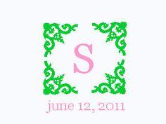 Wedding Monogram #LillyPulitzer #SouthernWeddings