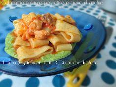 Calamarata con rana pescatrice e crema di zucchine