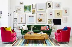 Ours would be swip swapped - where the furniture is neutral and the accents are loud & bold