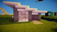 ✓ Minecraft: Modern Starter House [HD] Minecraft modern Minecraft mansion Minecraft house designs