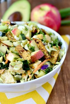 Crunch Lover's Chopped Chicken Salad with Chili-Lime Vinaigrette is a fresh and filling salad that's full of satisfying crunch! | iowagirleats.com