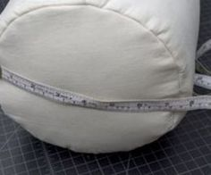 How to Make a Bolster Pillow : Measure the diameter. Sewing Pillows, Diy Pillows, Custom Pillows, Decorative Pillows, Throw Pillows, Pillow Ideas, Pillow Crafts, Custom Sofa, Yoga Bolster