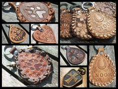 Handmade leather keychains, made by Jeweleeches Vivian Hebing! You can find me on facebook or Etsy too!