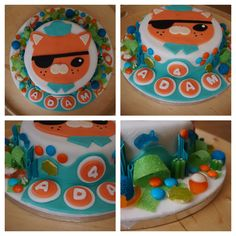 Easy peasy Octonauts cake with candy surround