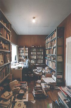 Kazuo Shinohara Sea Stairway House, house and studio for a painter Home Library Design, Study Room Design, Craft Room Design, Dream Library, Home Office Design, Home Interior Design, House Design, Design Desk, Writers Desk
