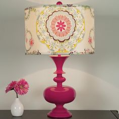 Modern Spindle Table Lamp Base:10 Colors. Love the shape of the base, and the lamp shade - $$$ though