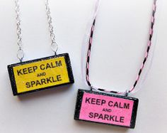 Keep Calm and Sparkle Necklace   AllFreeJewelryMaking.com
