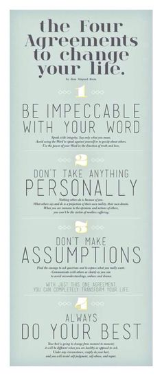 The Four Agreements to Change Your Life