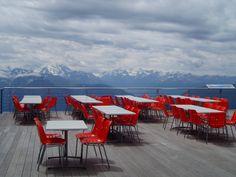Swiss mountain cafe