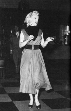 Marilyn Monroe photographed during her honeymoon with Joe DiMaggio in Japan, 1954.