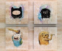 Adventure Time Solidarity Time Stone Coasters set