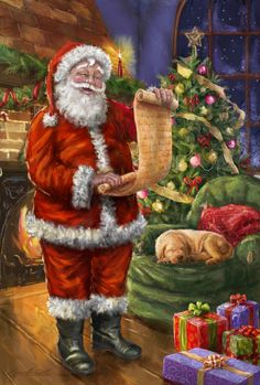 Marcello Corti Christmas SAnta Claus and the List