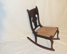 Antique Victorian Age Ladies Wicker seat Rocker Rocking Chair - You can see this & other items at our EBay Store  http://stores.shop.ebay.com/timsantiques  or Etsy.com Timsantiques1 ( all one word ) reasonable offers are always entertained