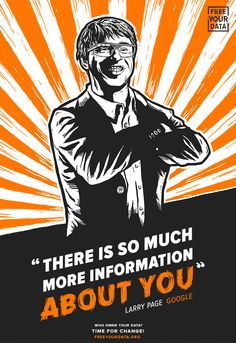 """Free Your Data Illustration. """"There Is So Much Information About You"""". Larry…"""