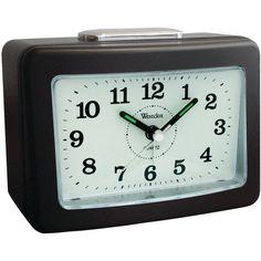 Westclox Quartz No-tick Loud-bell Analog Alarm Clock