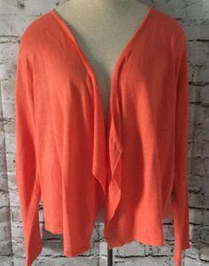 J Jill JJill Cardigan Sweater Size Small Open Front Draped Linen Blend  #JJill #Cardigan #Everyday