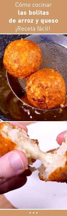Cómo cocinar las bolitas de arroz y queso. ¡Receta fácil! #receta #facil #rapida #practica #economica